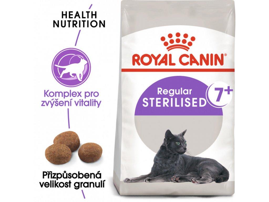 Sterilised 7+ granule pro stárnoucí kastrované kočky 400g