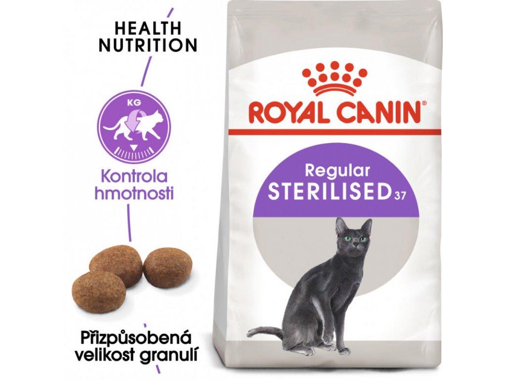 Sterilised granule pro kastrované kočky 2000g