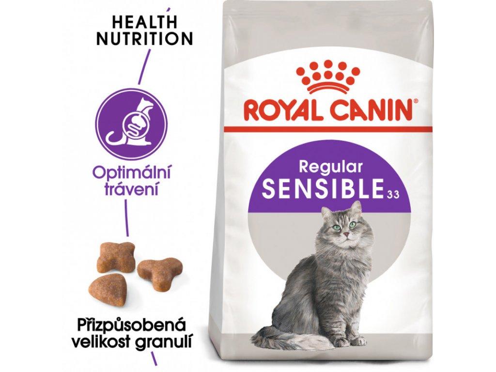 Sensible granule pro kočky s citlivým zažíváním 400g