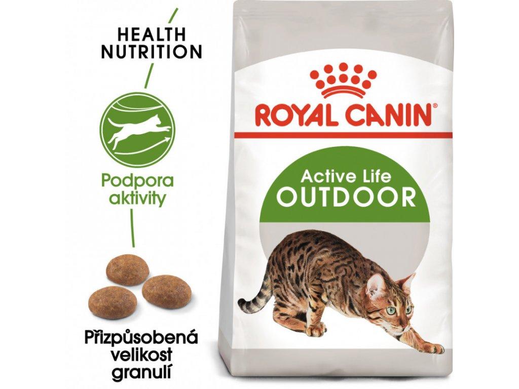 Outdoor granule pro kočky s častým pohybem venku 2000g