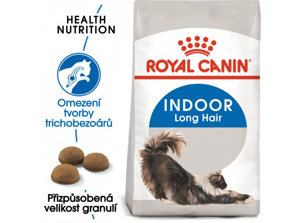 Indoor Longhair granule pro kočky žijící uvnitř a zdravou srst 2000g