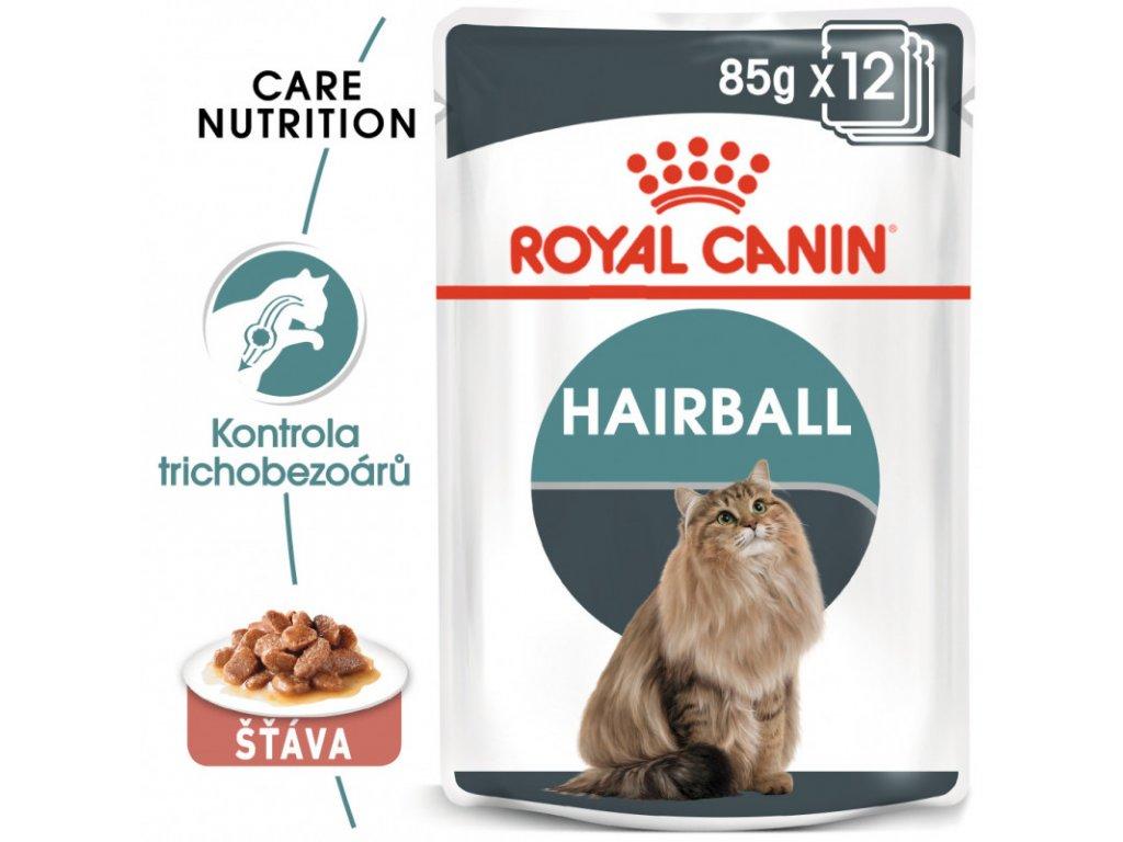 Hairball Care Gravy kapsička pro kočky ve šťávě pro správné vylučování smotků ve šťávě 90g