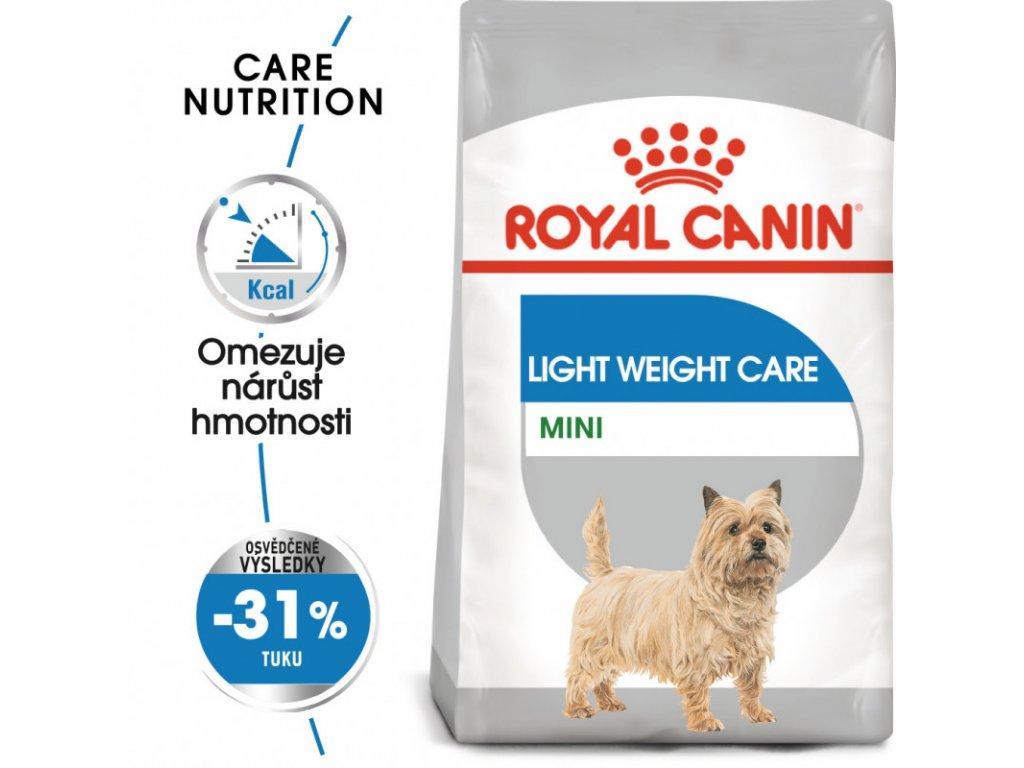 Mini Light Weight Care dietní granule pro psy 1000g