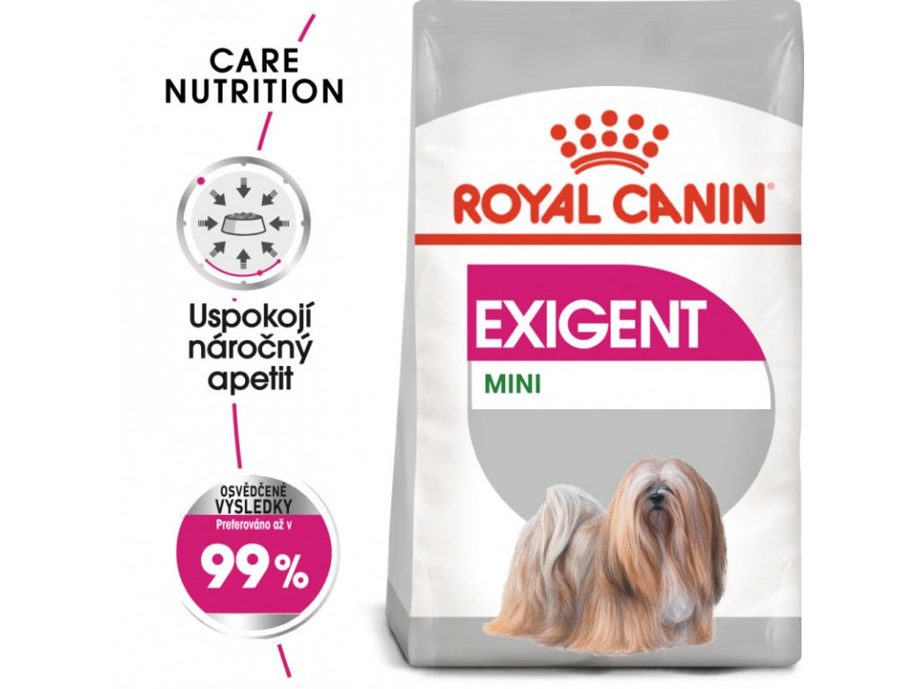 Mini Exigent granule pro mlsné malé psy 1000g