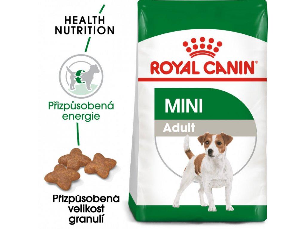 Mini Adult granule pro dospělé malé psy 800g