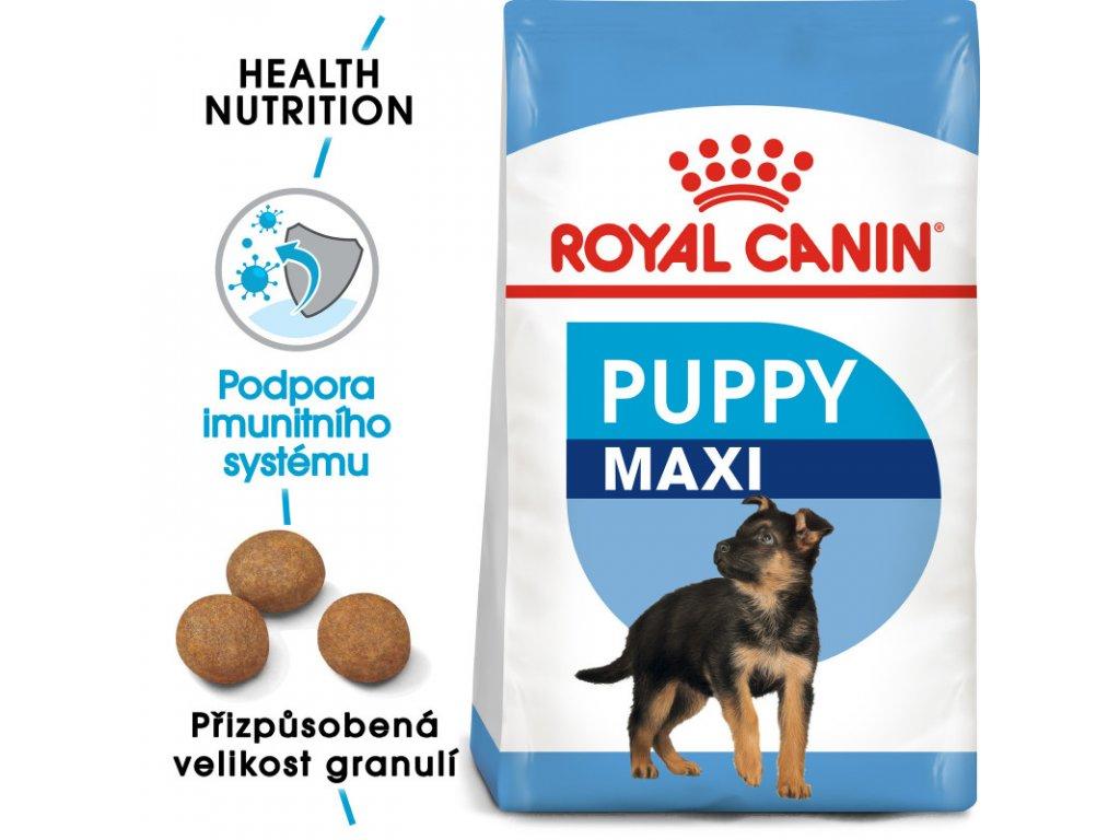Maxi Puppy granule pro velká štěňata 1000g