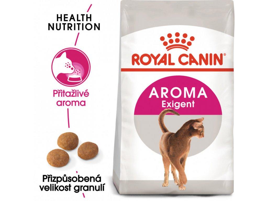Aromatic Exigent granule pro mlsné kočky 400g