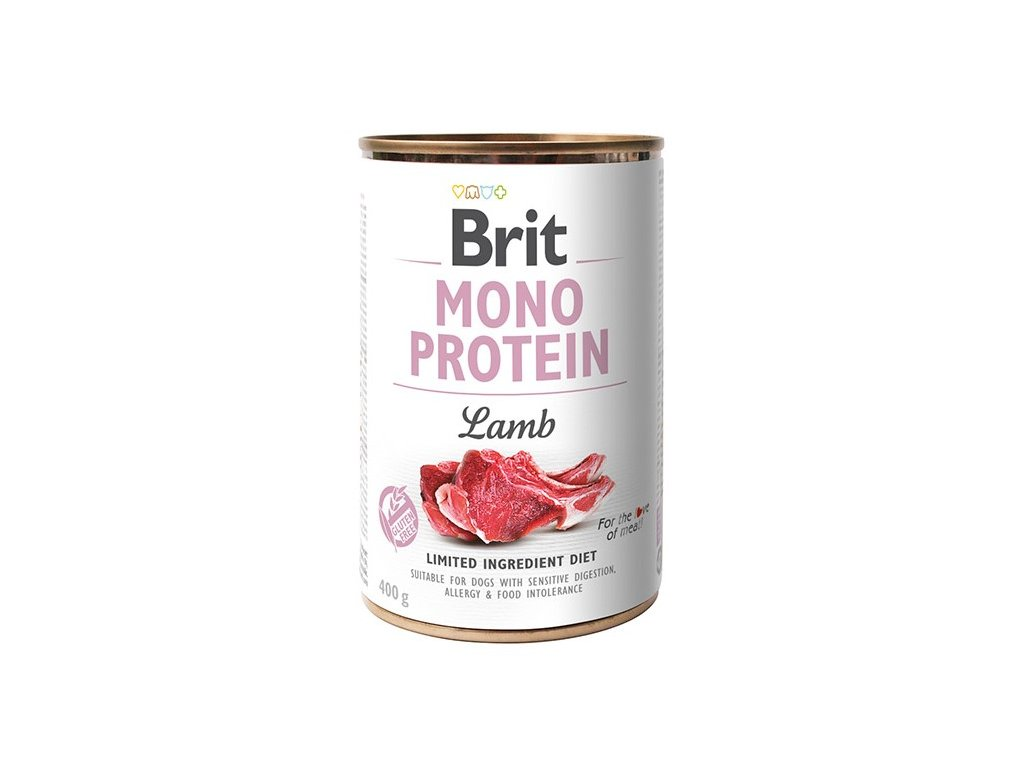 8082 brit mono protein lamb 400g 5 1 zdarma