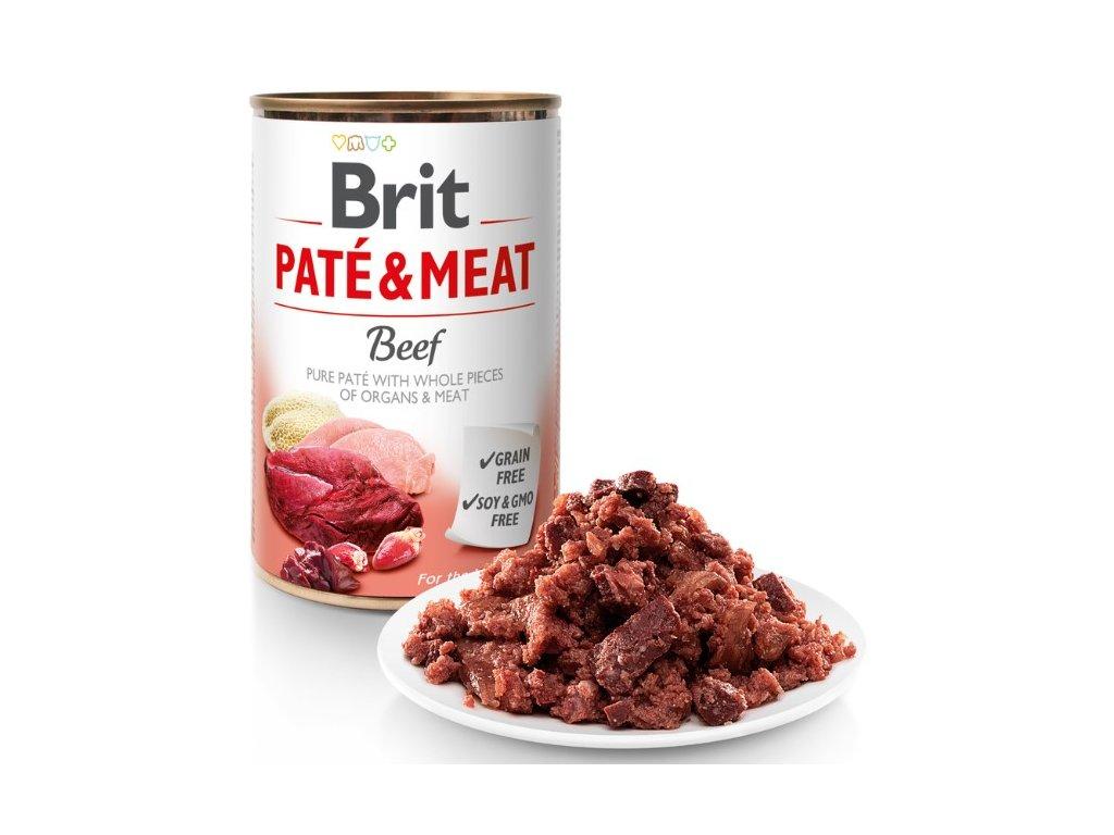 8049 brit pate meat beef 400g 5 1 zdarma