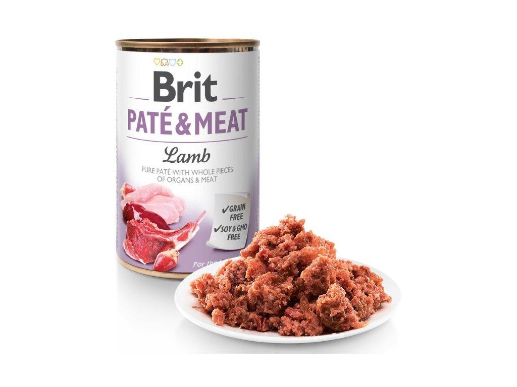8964 brit pate meat lamb 800g 5 1 zdarma