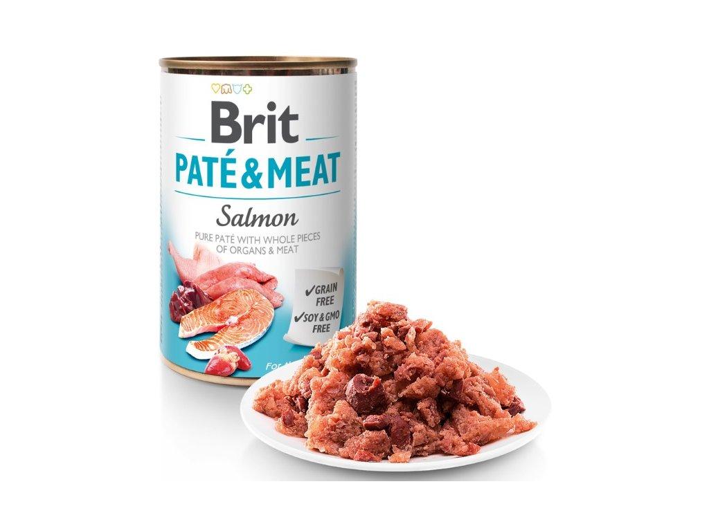 8067 brit pate meat salmon 400g 5 1 zdarma