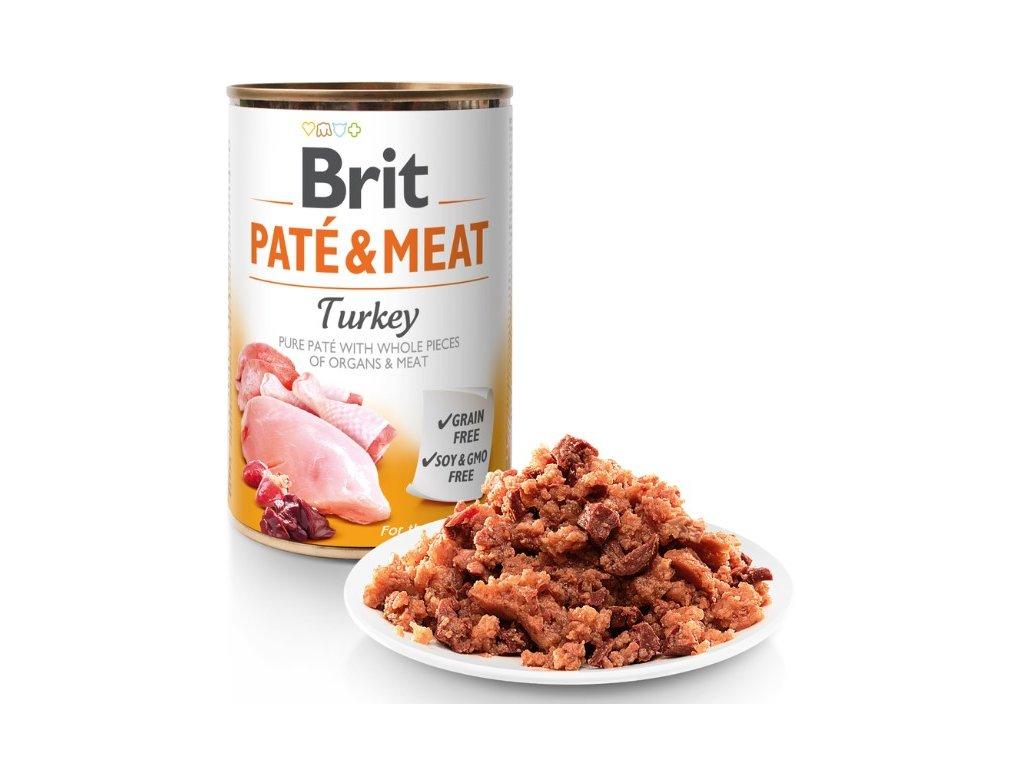 8070 brit pate meat turkey 400g 5 1 zdarma