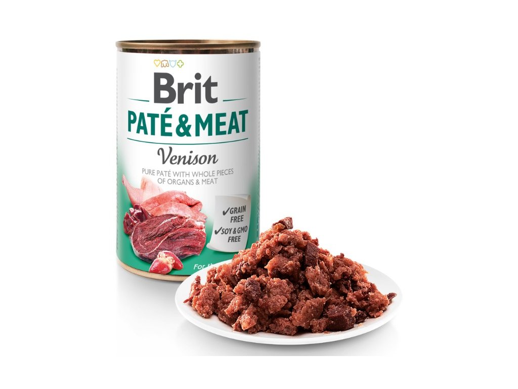 8073 brit pate meat venison 400g 5 1 zdarma