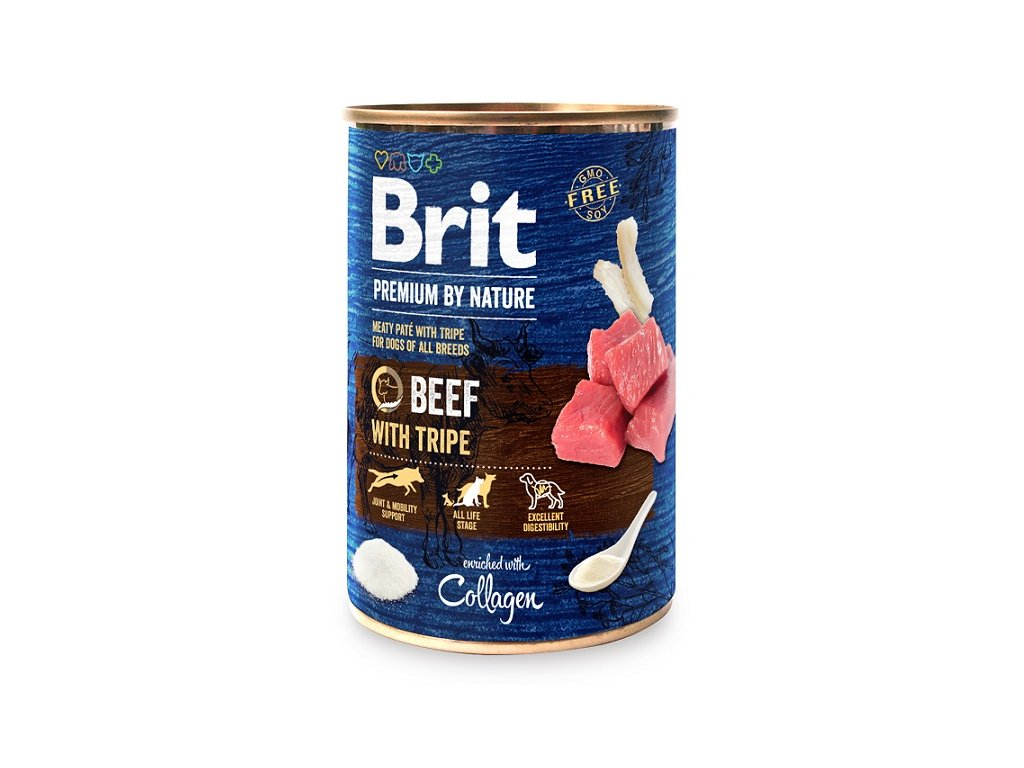 8988 brit premium by nature beef with tripes 400g 5 1 zdarma
