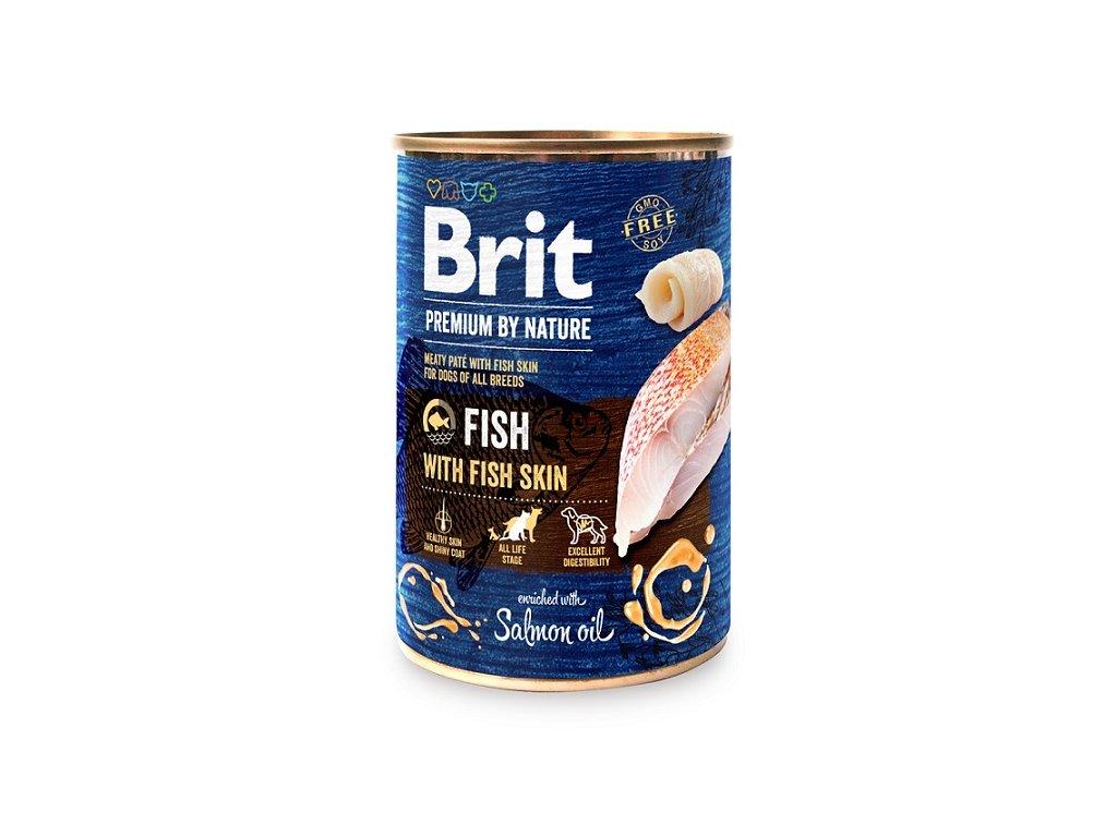 8985 brit premium by nature fish with fish skin 400g 5 1 zdarma
