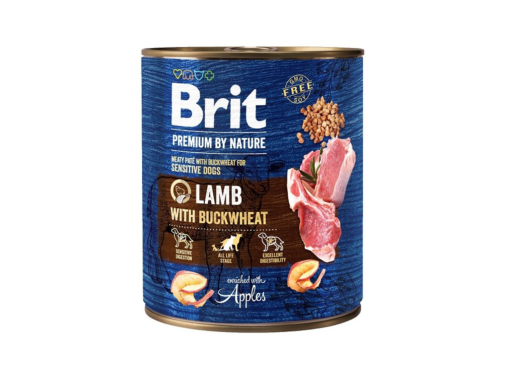 9006 brit premium by nature lamb with buckwheat 800g 5 1 zdarma