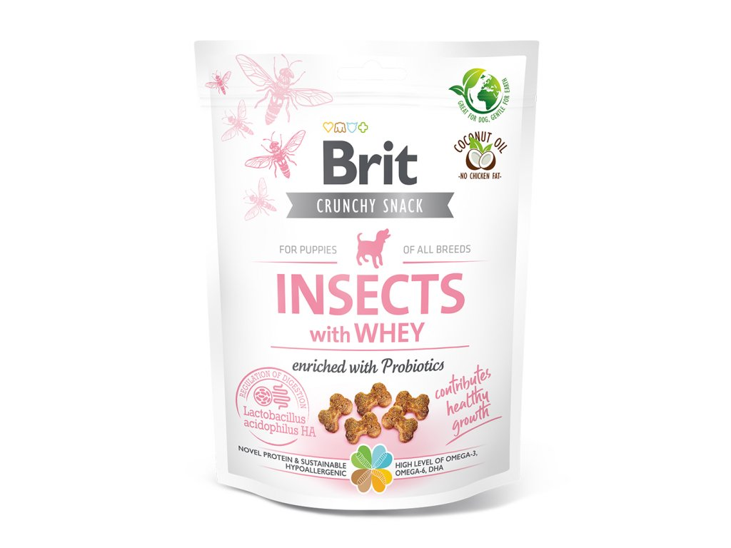20324 BCD crunchy snacks INSECT WHEY for PUPPY 200g K1 3D