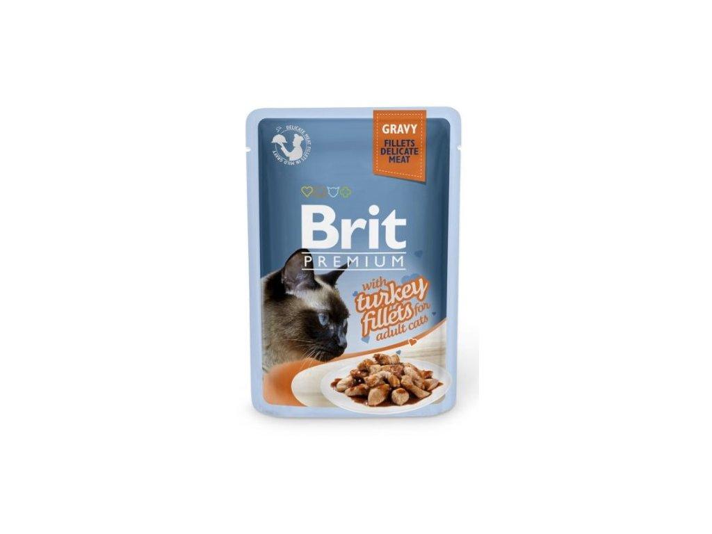 4458 brit premium cat delicate fillets in gravy with turkey 85g