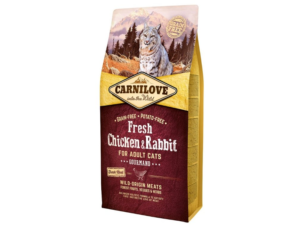 5217 carnilove cat fresh chicken rabbit 6kg