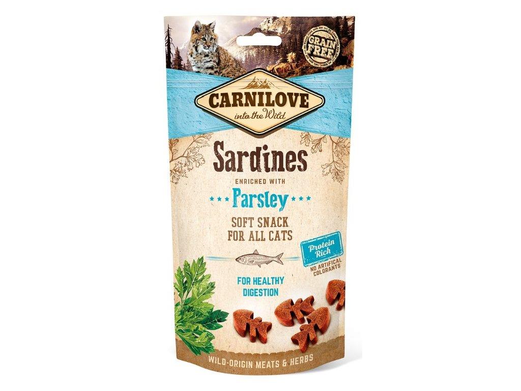 5274 carnilove cat semi moist snack sardine parsley 50g