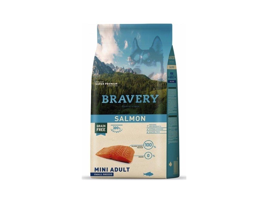 BRAVERY dog ADULT MINI Grain Free salmon 7kg   Tenesco.cz