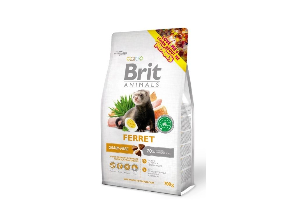 3831 brit animals ferret complete 700g