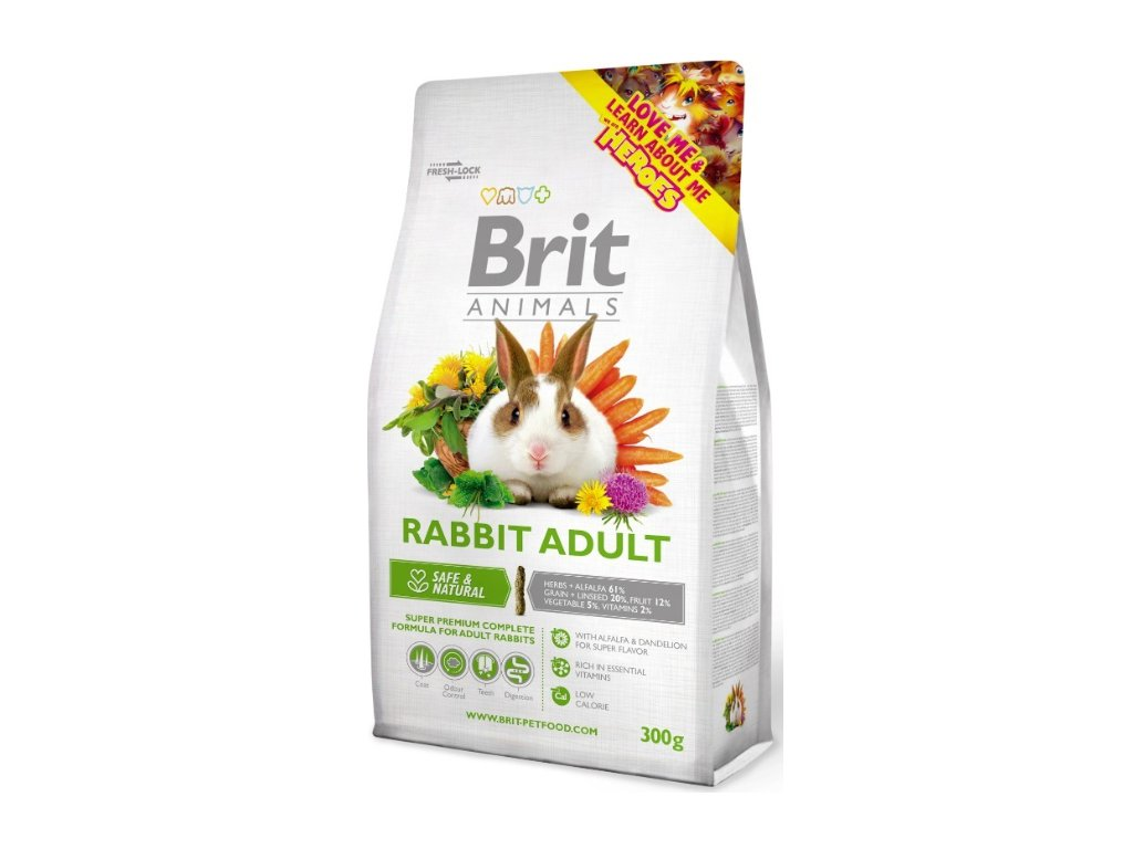 2742 brit animals rabbit adult complete 300g