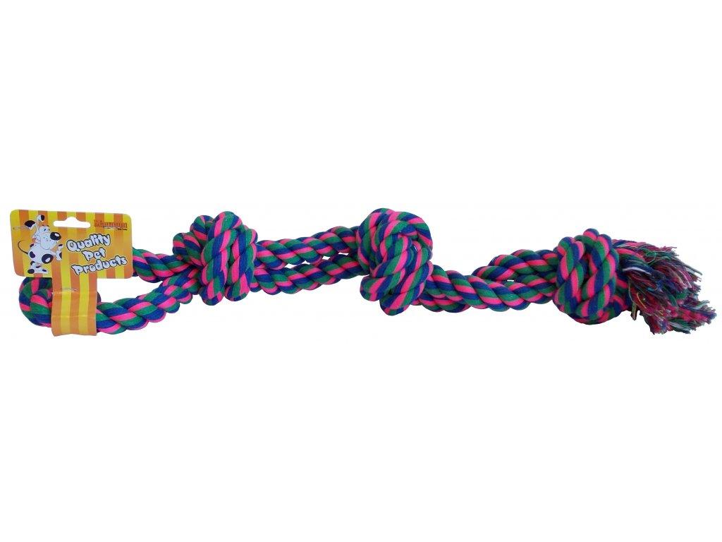 3486 trojity uzel bavlna double 43cm