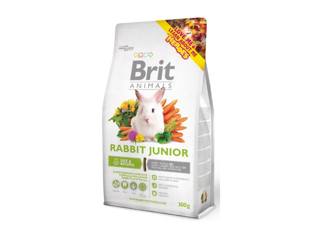 2733 brit animals rabbit junior complete 300g