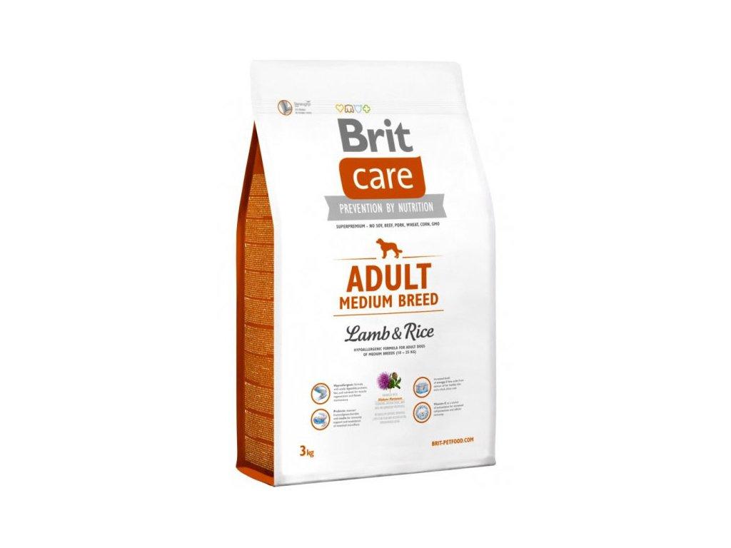 3525 brit care adult medium breed lamb rice 3kg