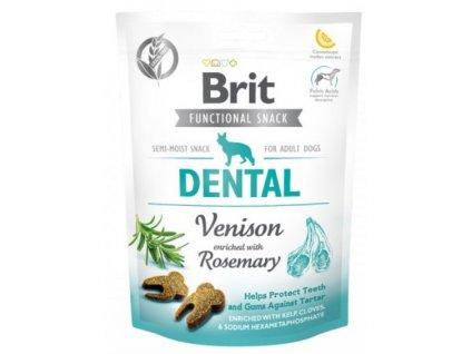 7599 brit care dog functional snack dental venison 150g