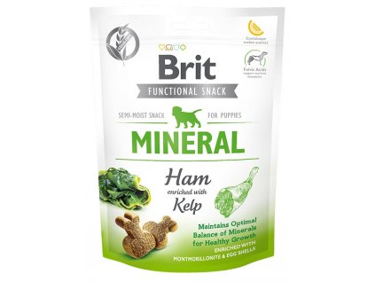 7614 brit care dog functional snack mineral ham for puppies 150g