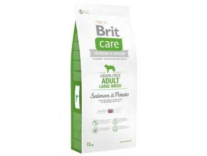 3576 brit care grain free adult large breed salmon potato 12 2kg zdarma