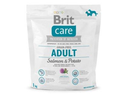 3573 brit care grain free adult salmon potato 1kg
