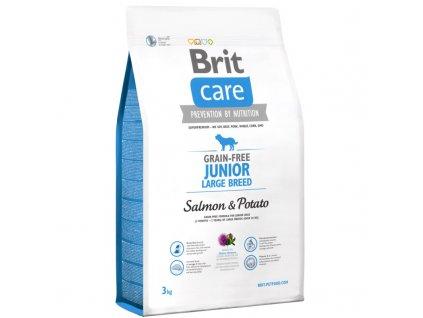 3561 brit care grain free junior large breed salmon potato 3kg