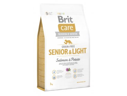 3597 brit care grain free senior light salmon potato 3kg