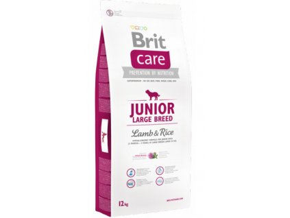 3504 brit care junior large breed lamb rice 12kg