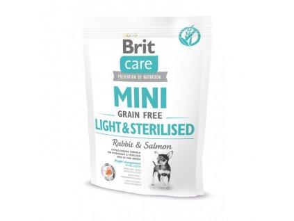 4713 brit care mini grain free light sterilised 400g