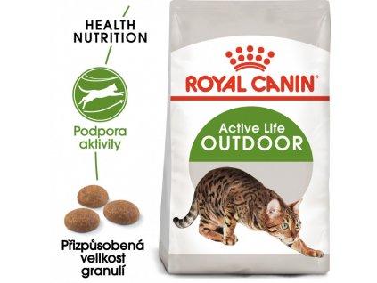 Outdoor granule pro kočky s častým pohybem venku 400g