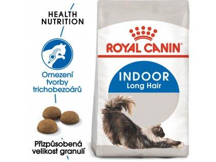 Indoor Longhair granule pro kočky žijící uvnitř a zdravou srst 400g