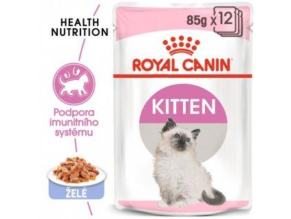 Kitten Instinctive Jelly kapsička pro koťata v želé 90g