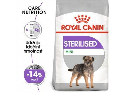 Mini Sterilised granule pro kastrované malé psy 1000g