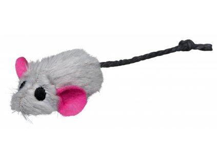 Plyšová myška s pevným středem a catnipem 5 cm (6ks/bal.)