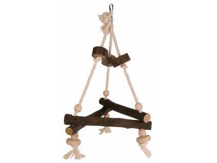 Závěsný dřevěný triangl 27x27x27 cm