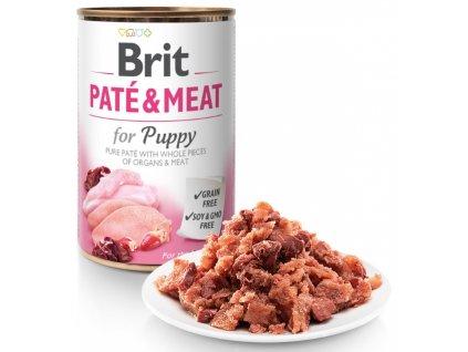 8061 brit pate meat puppy 400g 5 1 zdarma