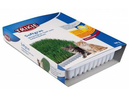 Jemná tráva pro kočku v misce TRIXIE 100 g