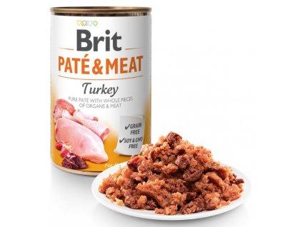 8973 brit pate meat turkey 800g 5 1 zdarma