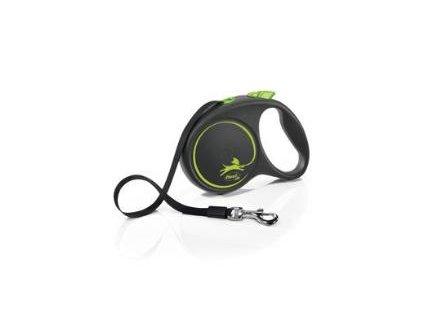 Vodítko Flexi Black Design L 5m (max 50kg) pásek zelená