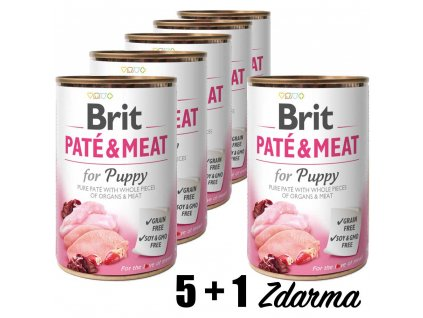 Brit Paté & Meat Puppy 400g 5+1 zdarma
