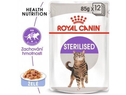 Sterilised Jelly kapsička pro kastrované kočky v želé 90g